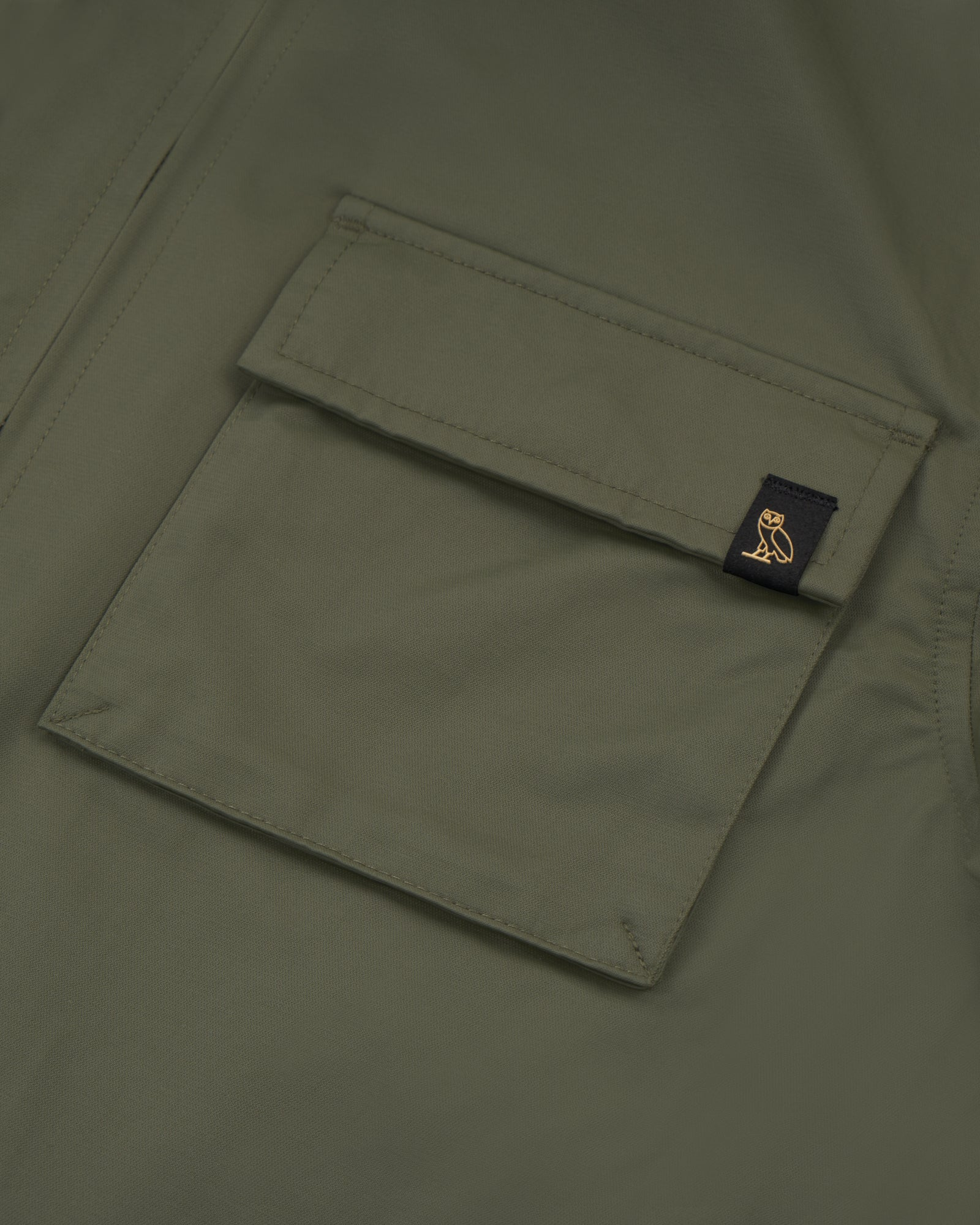 WOMEN'S OVO NYLON JACKET - STONE GREEN IMAGE #3