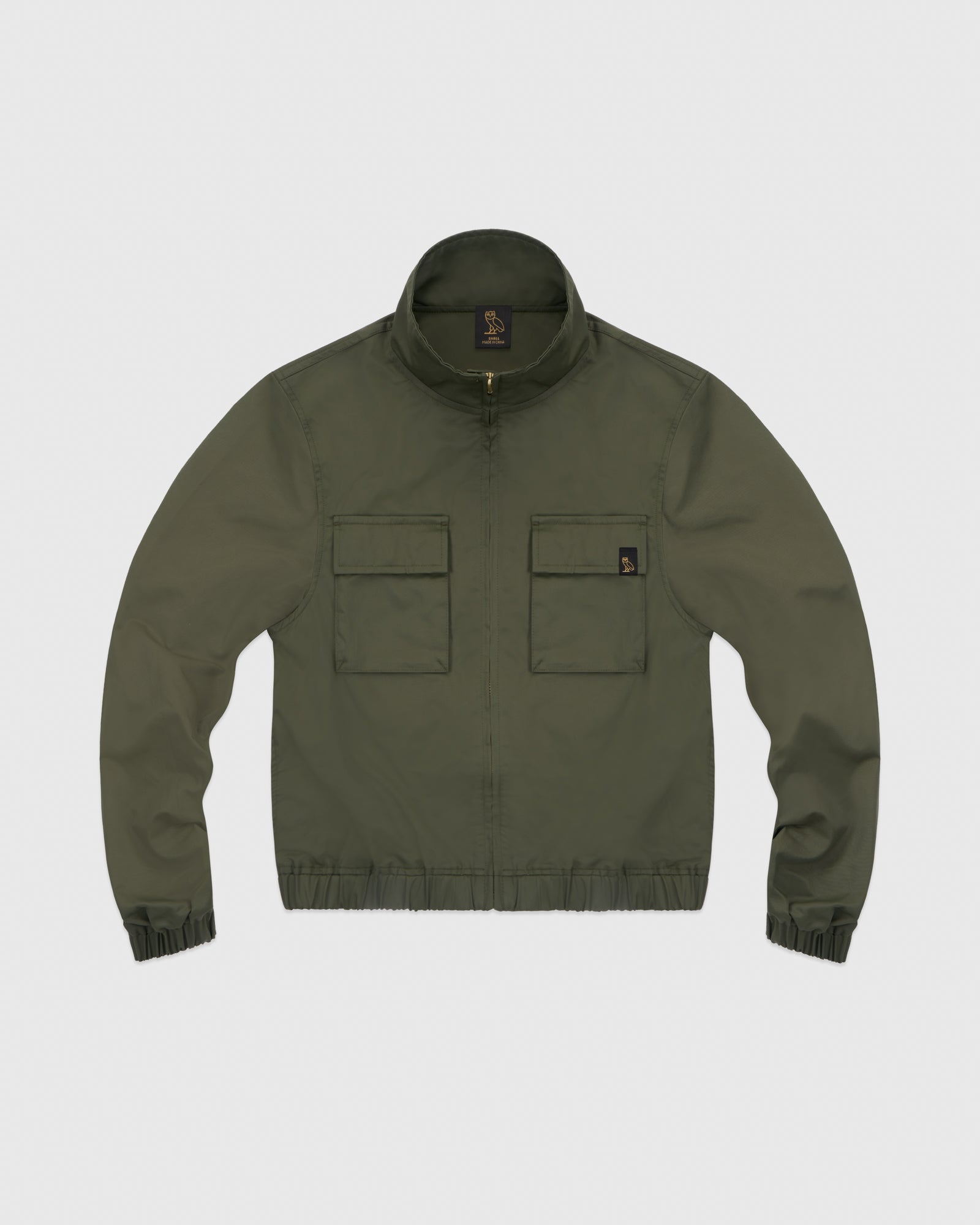 WOMEN'S OVO NYLON JACKET - STONE GREEN IMAGE #1