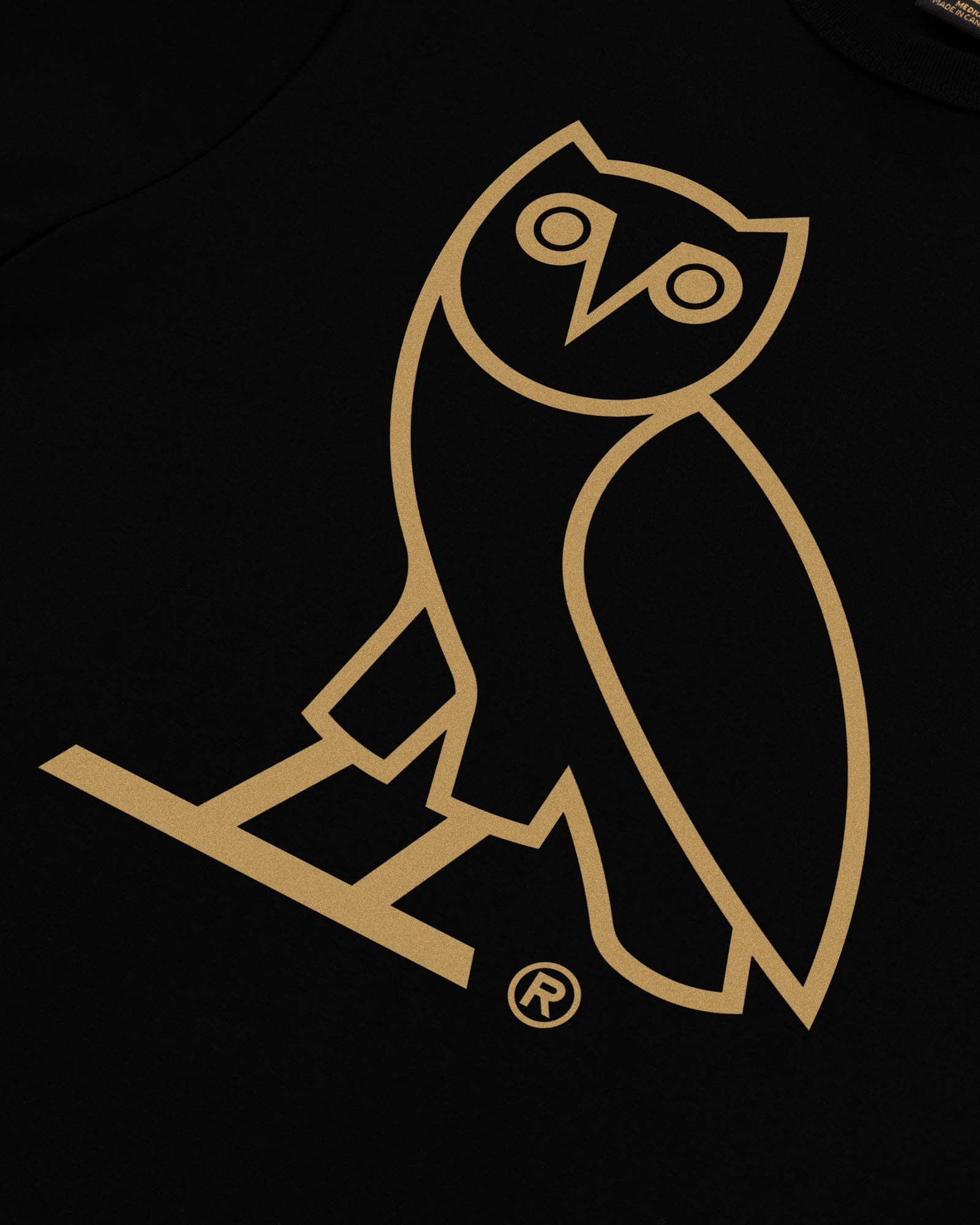 WOMEN'S OVO OWL T-SHIRT - BLACK IMAGE #3
