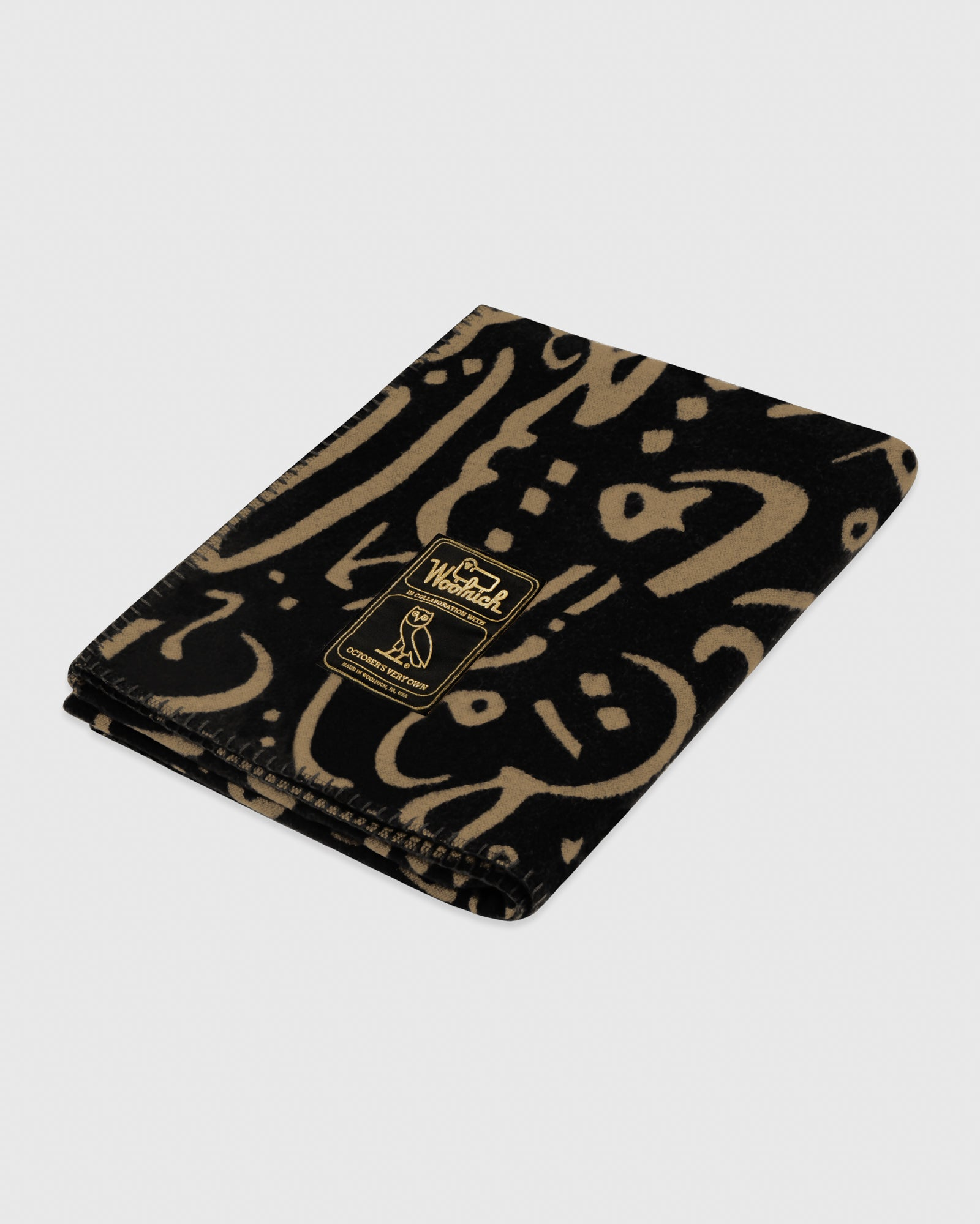 OVO x WOOLRICH BLANKET - CALLIGRAPHY MOTIF