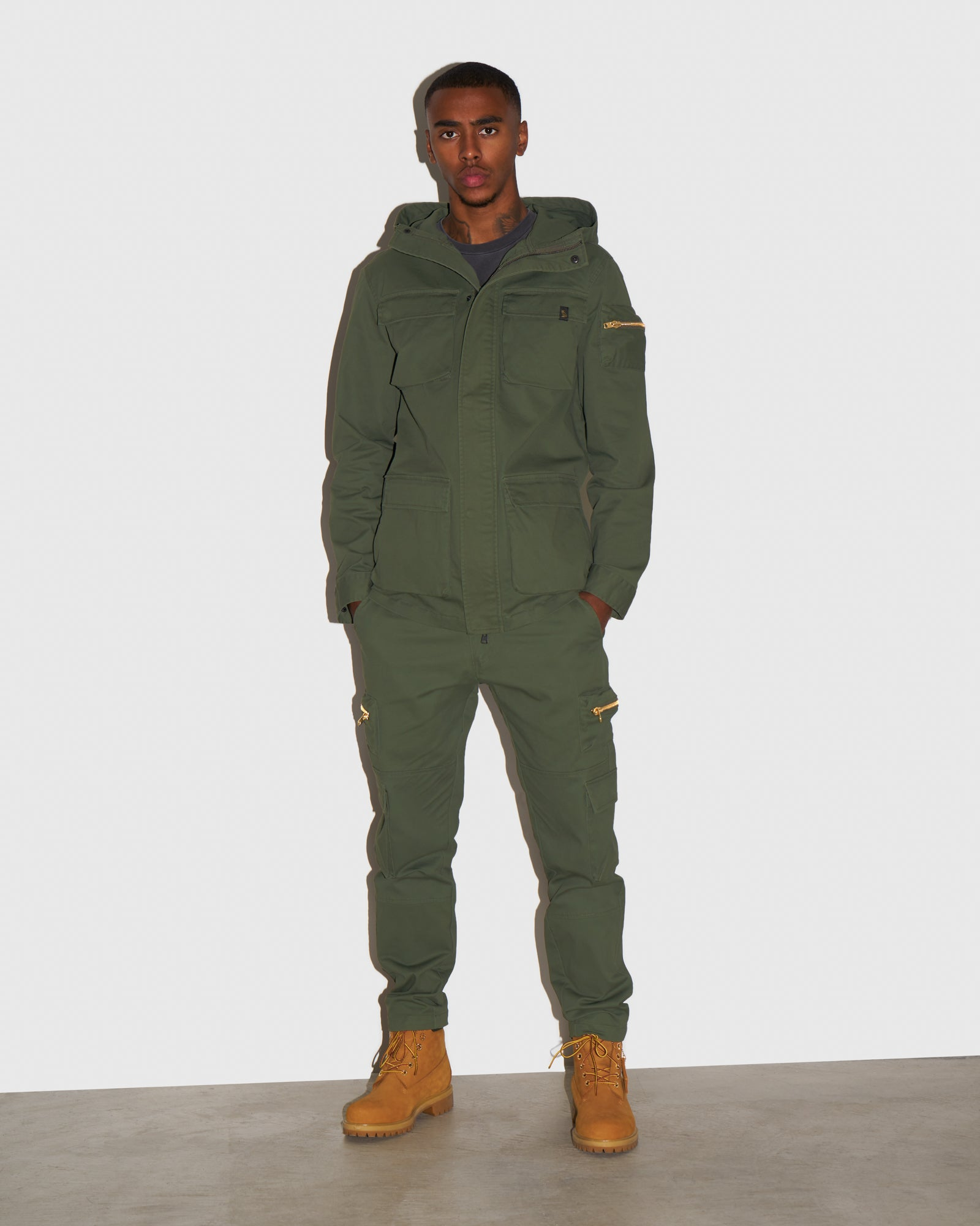CARGO PANT - MILITARY GREEN IMAGE #2