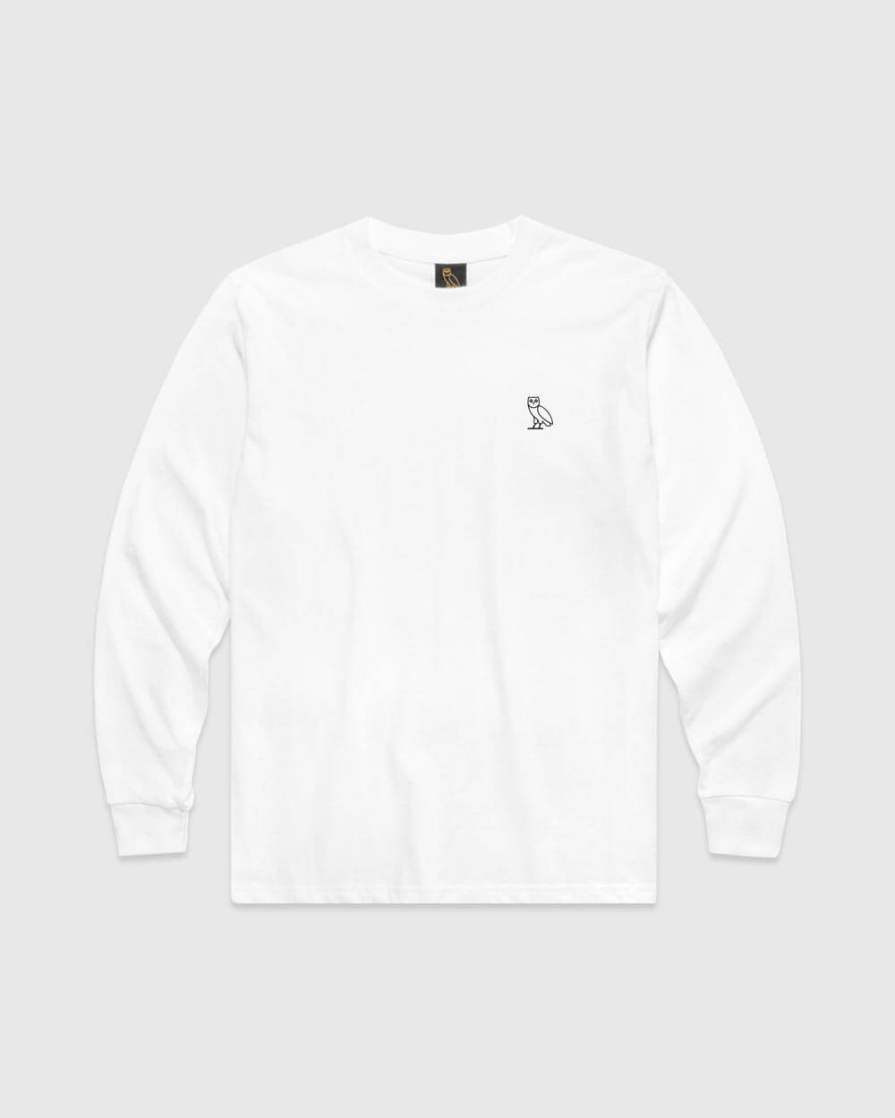 OVO ESSENTIALS LONGSLEEVE T-SHIRT - WHITE IMAGE #1