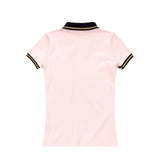 WOMEN'S OWL PATCH POLO - PINK