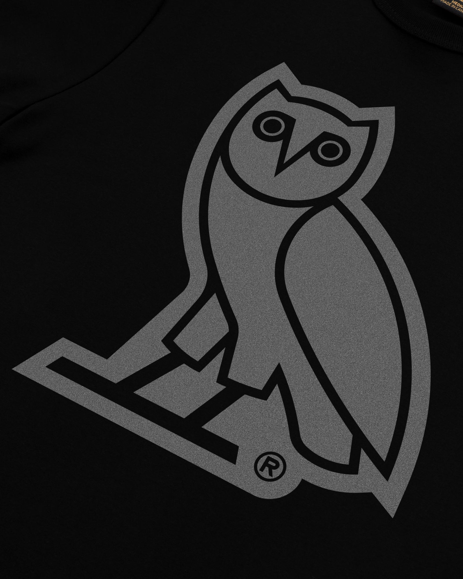 REFLECTIVE OWL T-SHIRT - BLACK