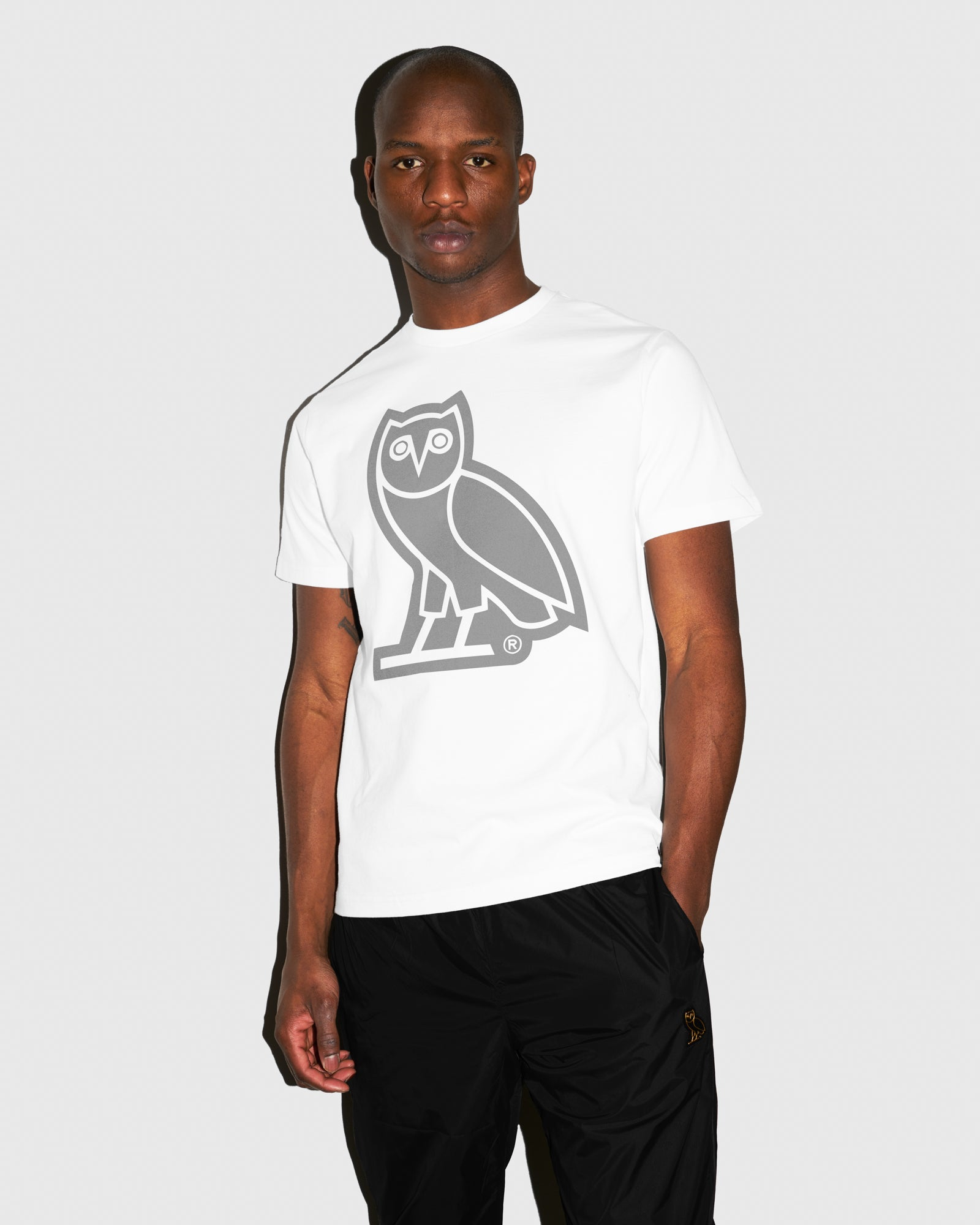 REFLECTIVE OWL T-SHIRT - WHITE