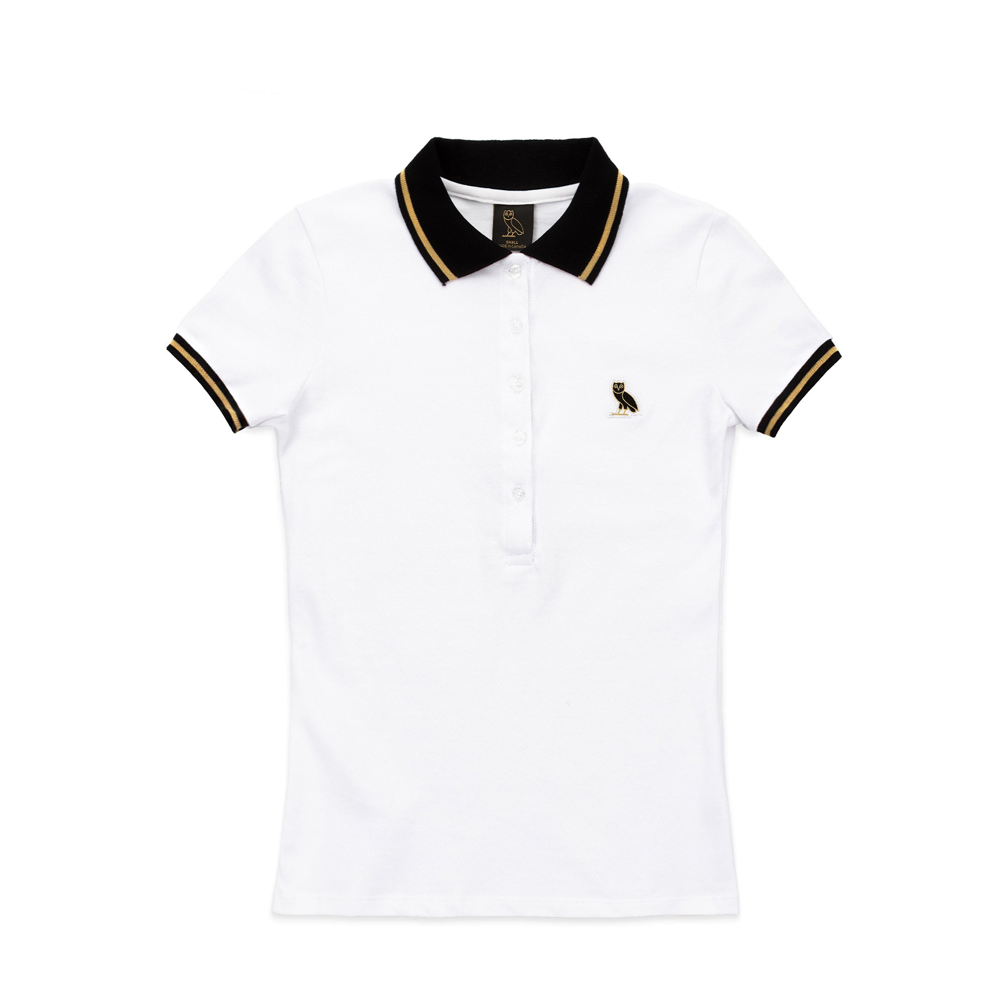 WOMEN'S OWL PATCH POLO - WHITE
