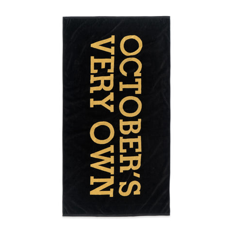 WORDMARK LOGO TOWEL - BLACK & GOLD