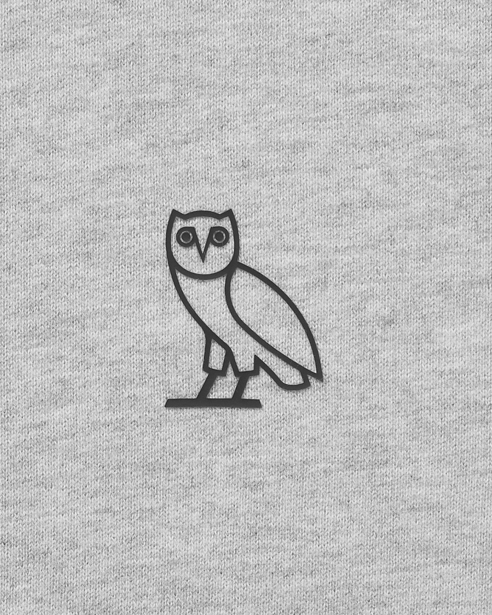 OVO ESSENTIALS ZIP HOODIE - HEATHER GREY IMAGE #4