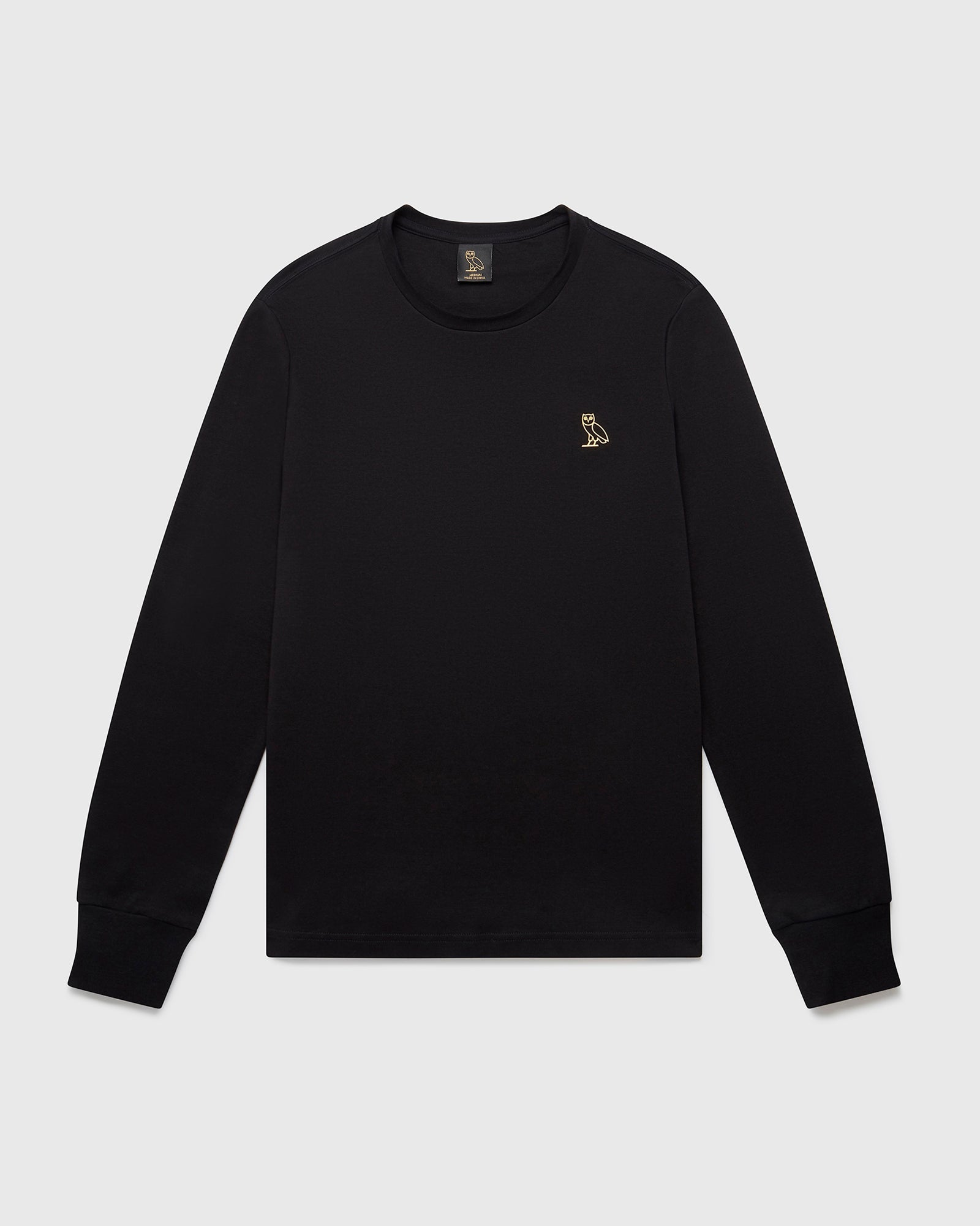 OVO ESSENTIALS LONGSLEEVE T-SHIRT - BLACK IMAGE #1