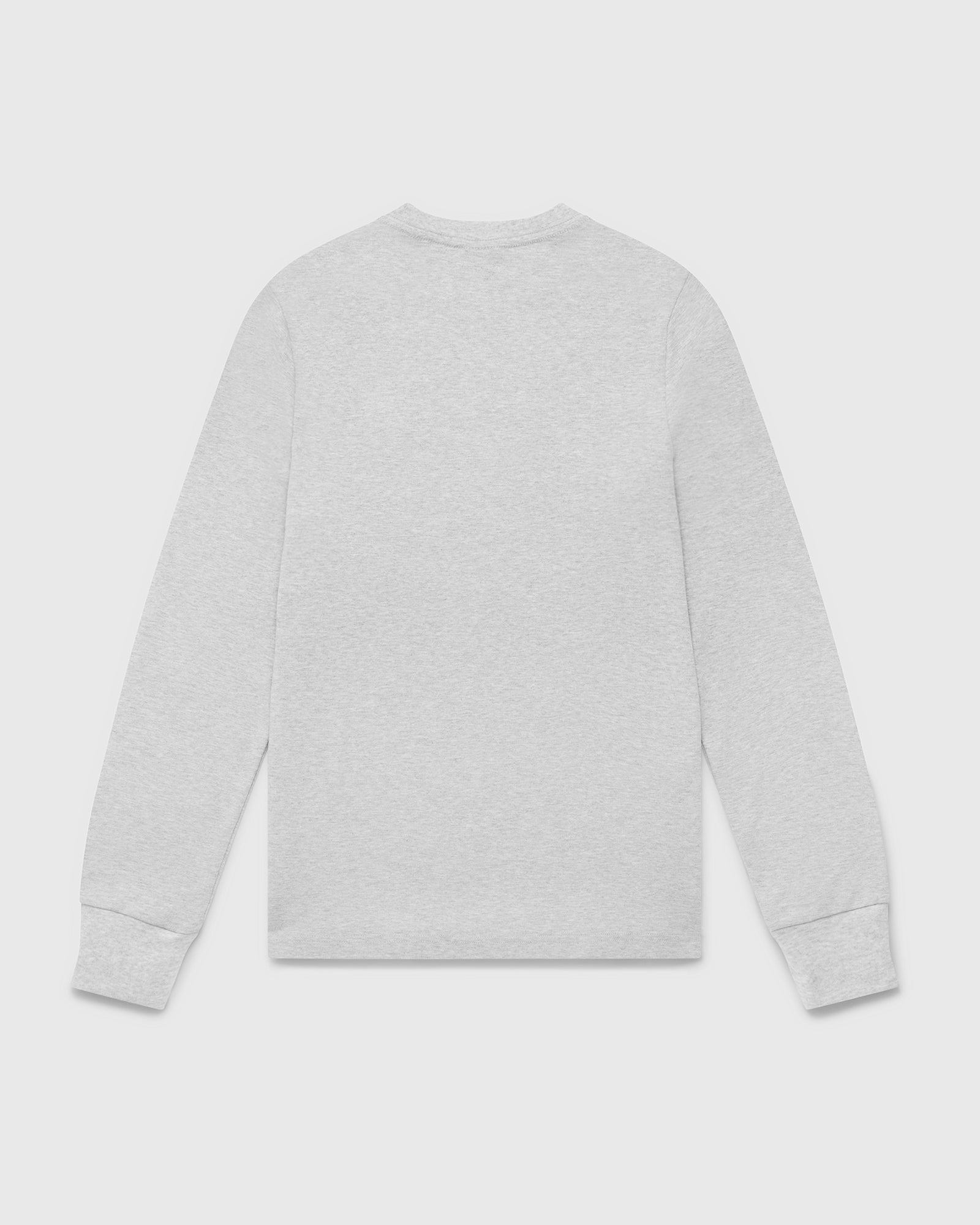 OVO ESSENTIALS LONGSLEEVE T-SHIRT - HEATHER GREY IMAGE #2