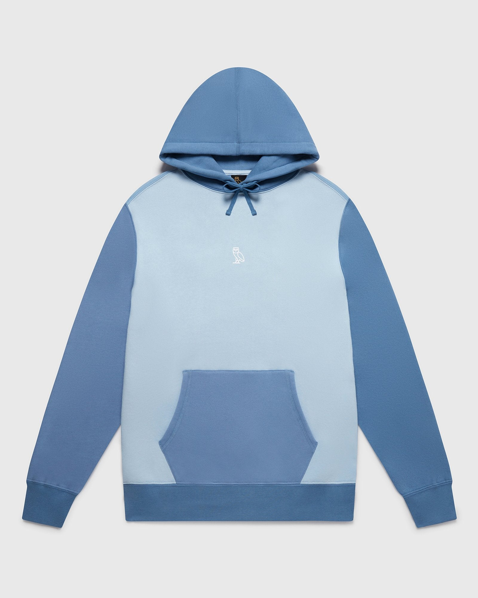 BLOCK PANEL HOODIE - MULTI BLUE IMAGE #1