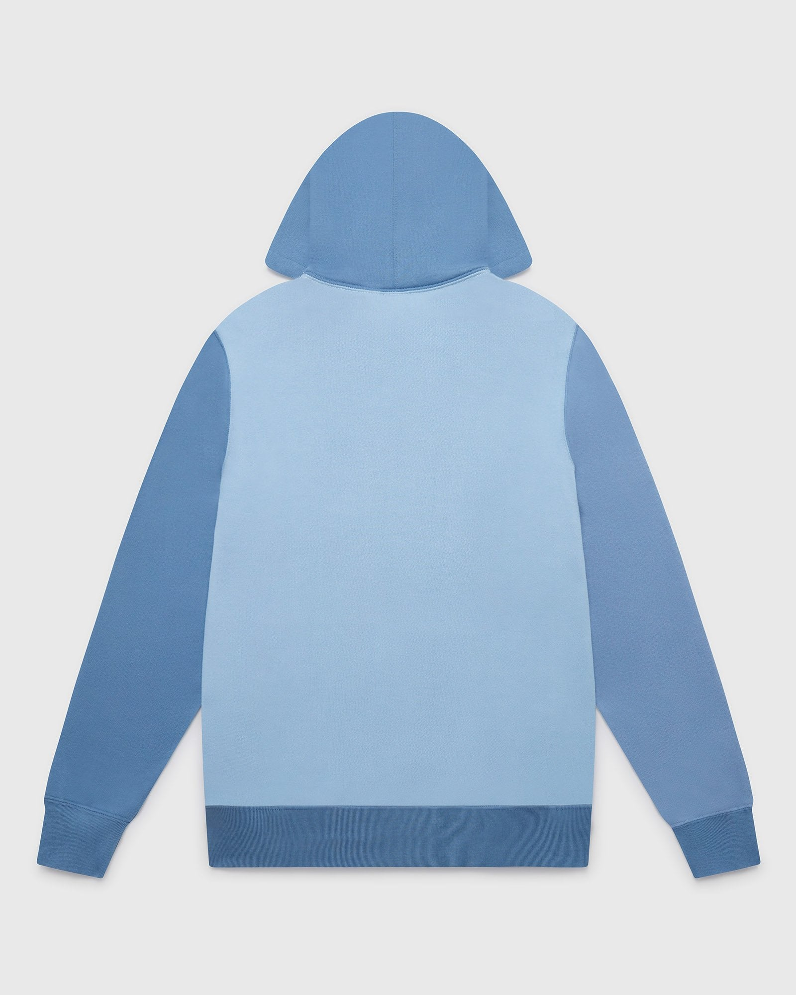 BLOCK PANEL HOODIE - MULTI BLUE IMAGE #2