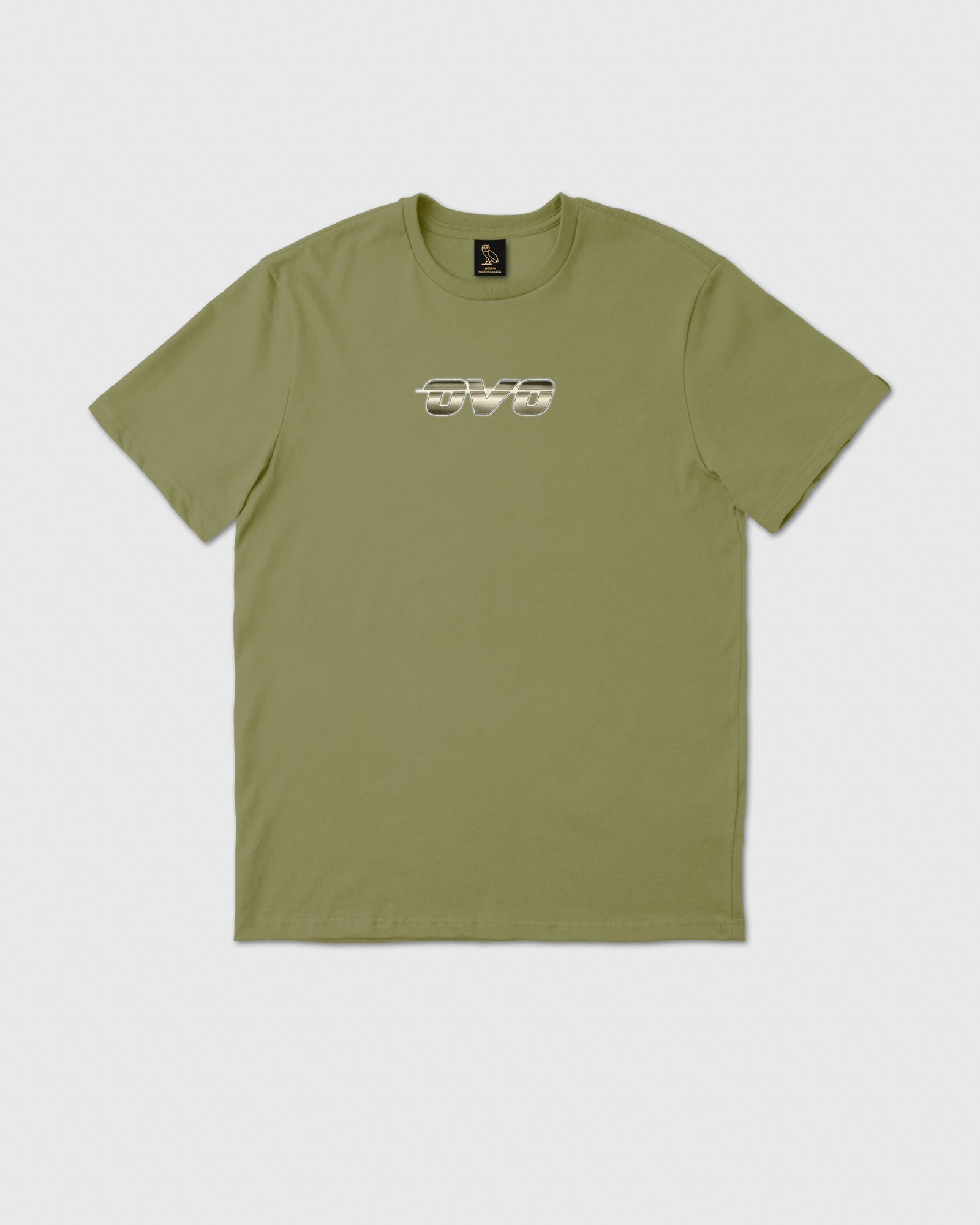 CHROME RUNNER T-SHIRT - OLIVE IMAGE #1