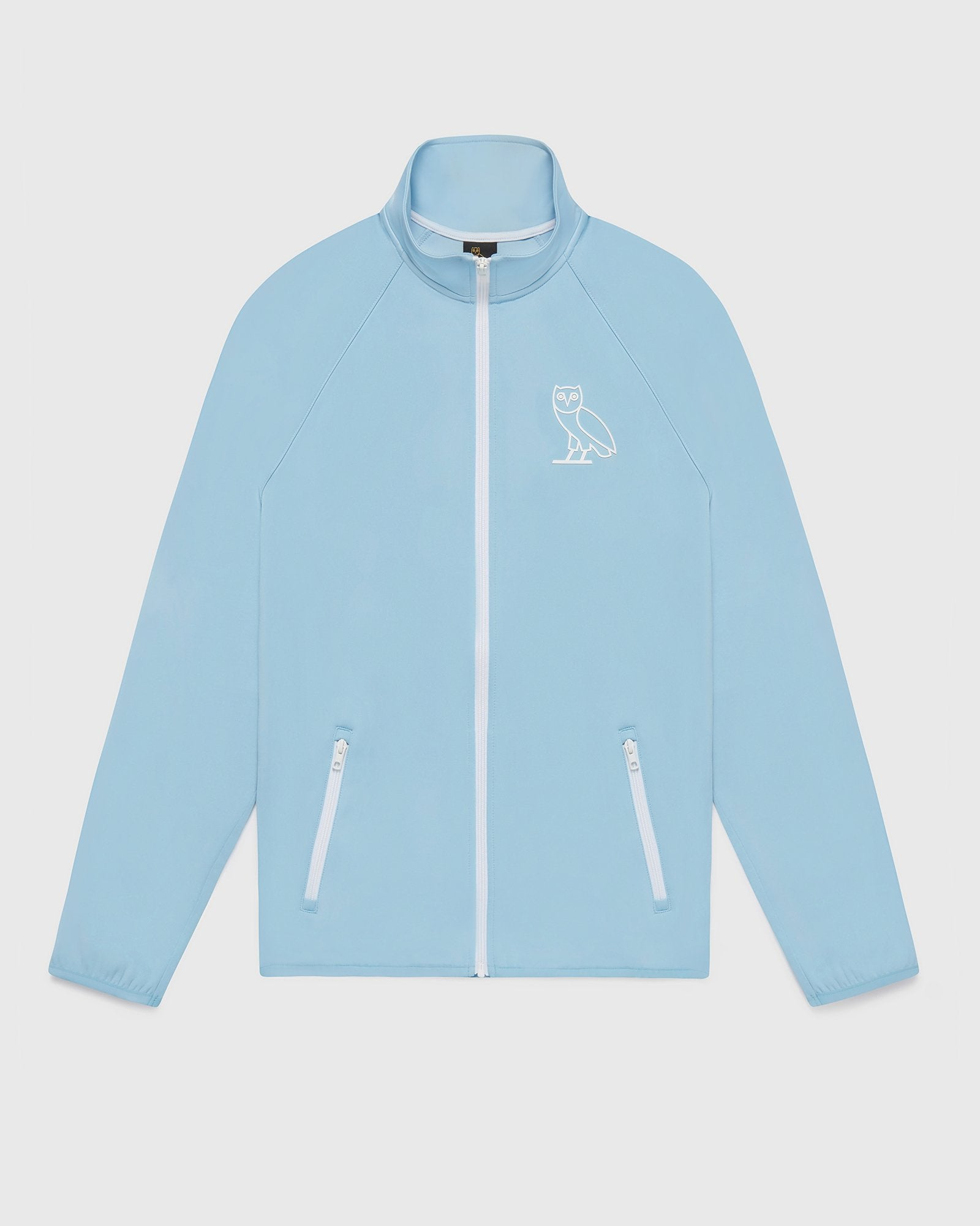 DOUBLE KNIT TRACK JACKET - DUSTY BLUE IMAGE #1