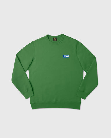 EMBROIDERED RUNNER LOGO CREWNECK - FERN