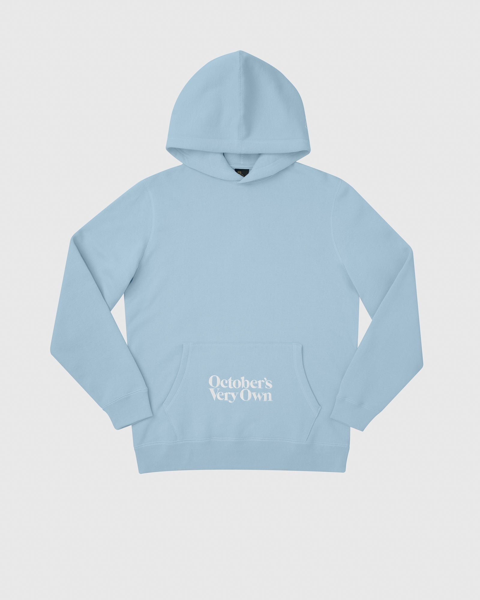 FAMILIA EMBROIDERED POCKET HOODIE - SKY BLUE IMAGE #1