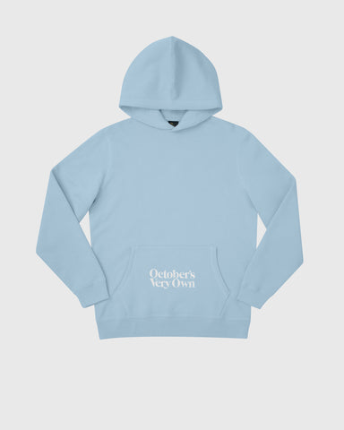 FAMILIA EMBROIDERED POCKET HOODIE - SKY BLUE