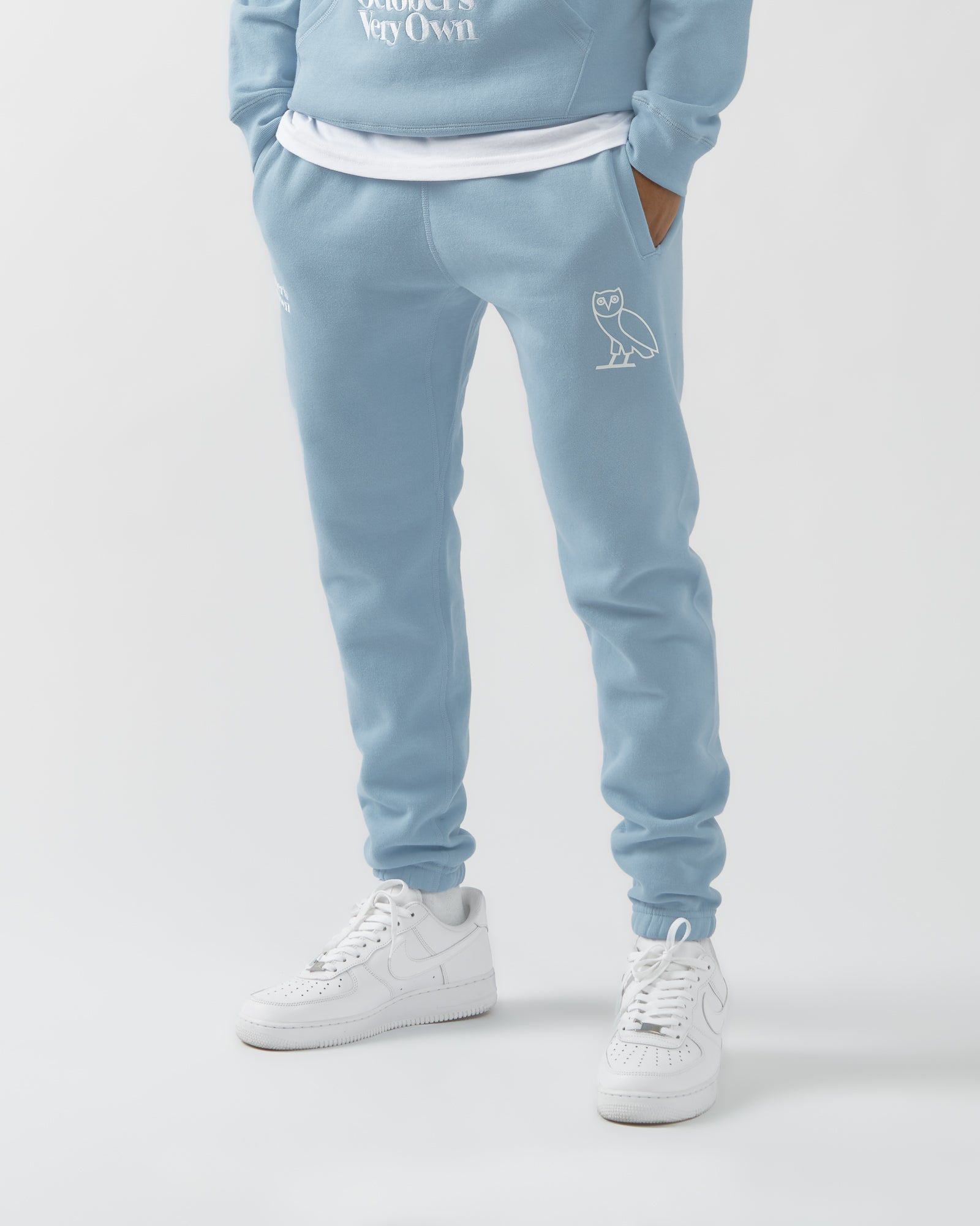 FAMILIA EMBROIDERED SWEATPANT - SKY BLUE IMAGE #3