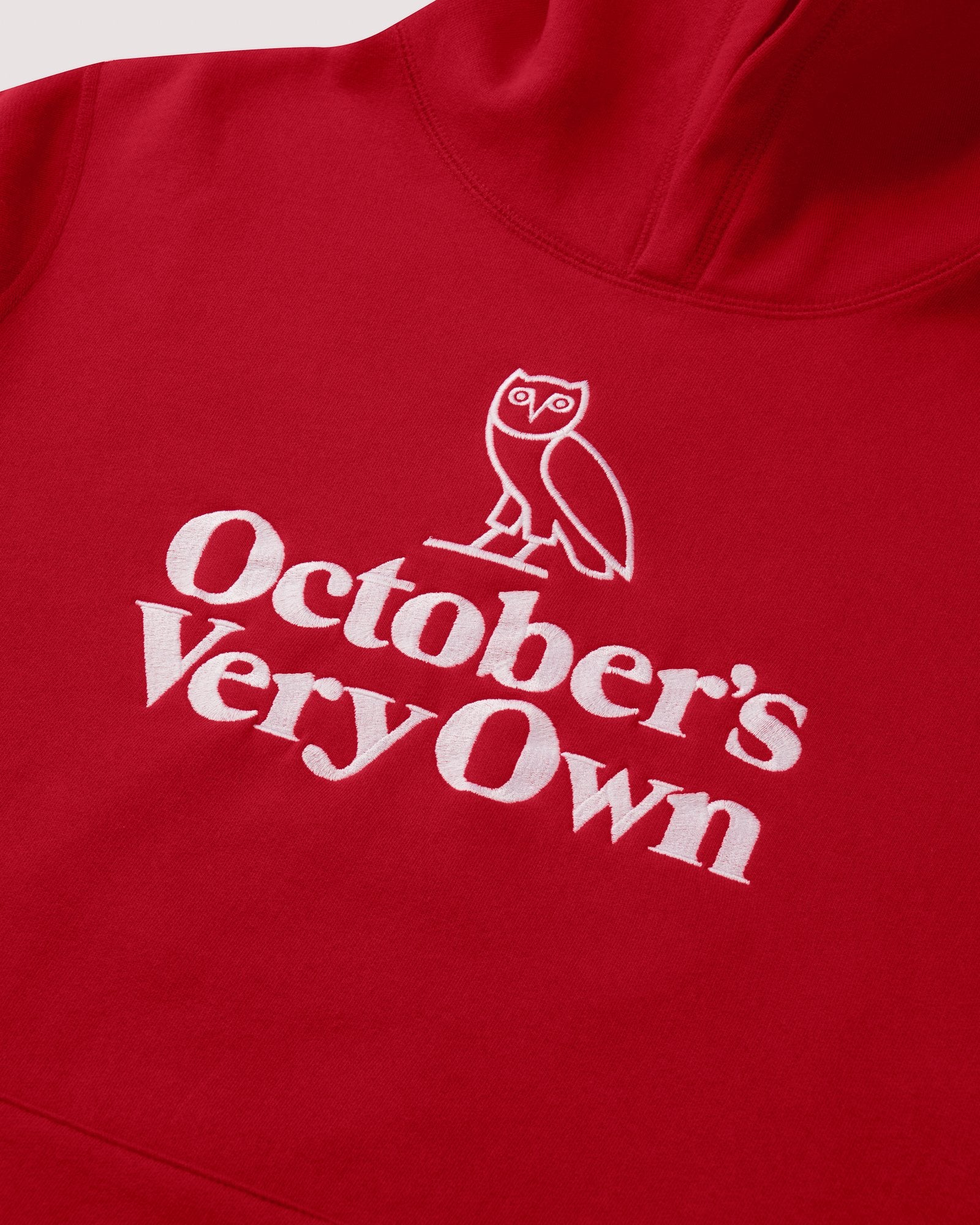 FAMILIA OWL EMBROIDERED HOODIE - RED IMAGE #2