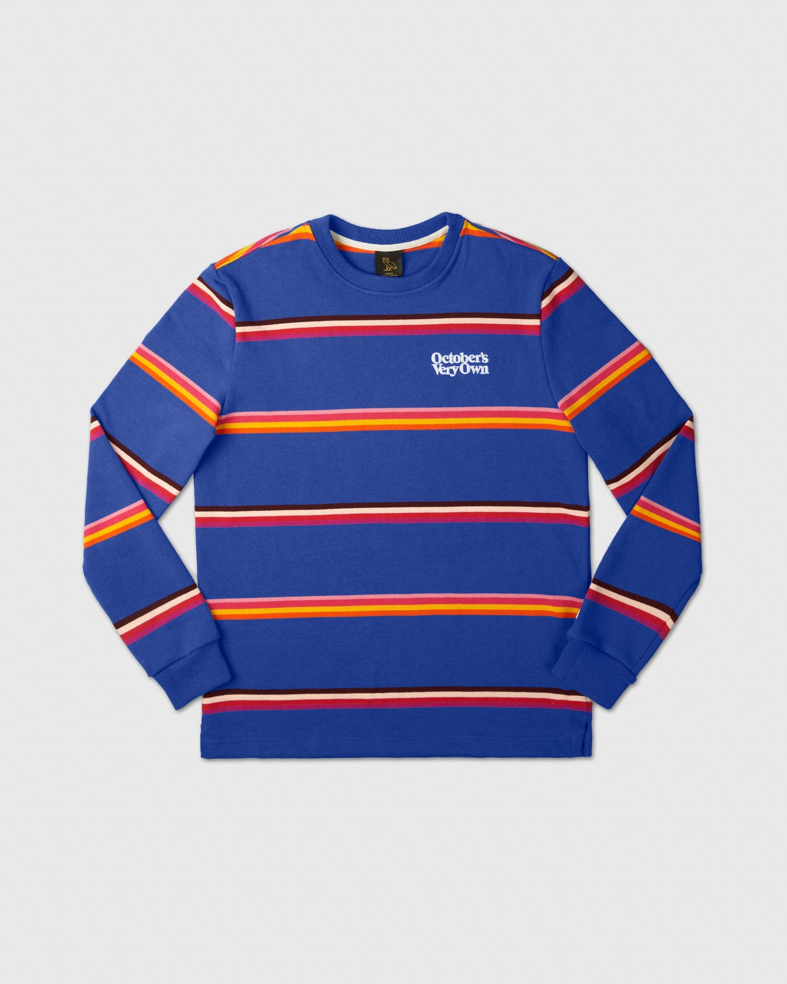 FAMILIA STRIPED CREWNECK - ROYAL BLUE IMAGE #1