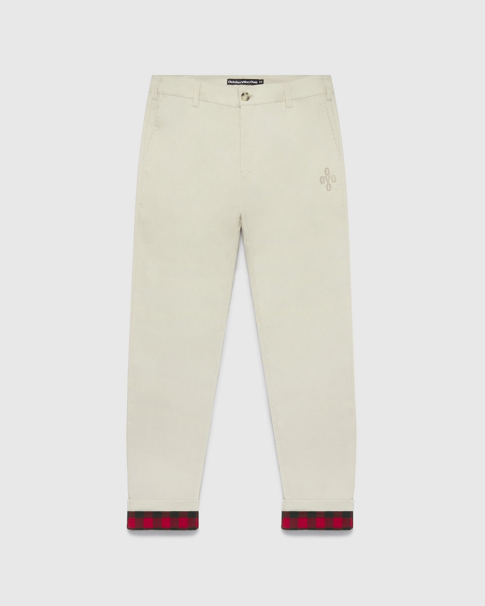 FLANNEL LINED CHINO PANT - SAND/RED IMAGE #1