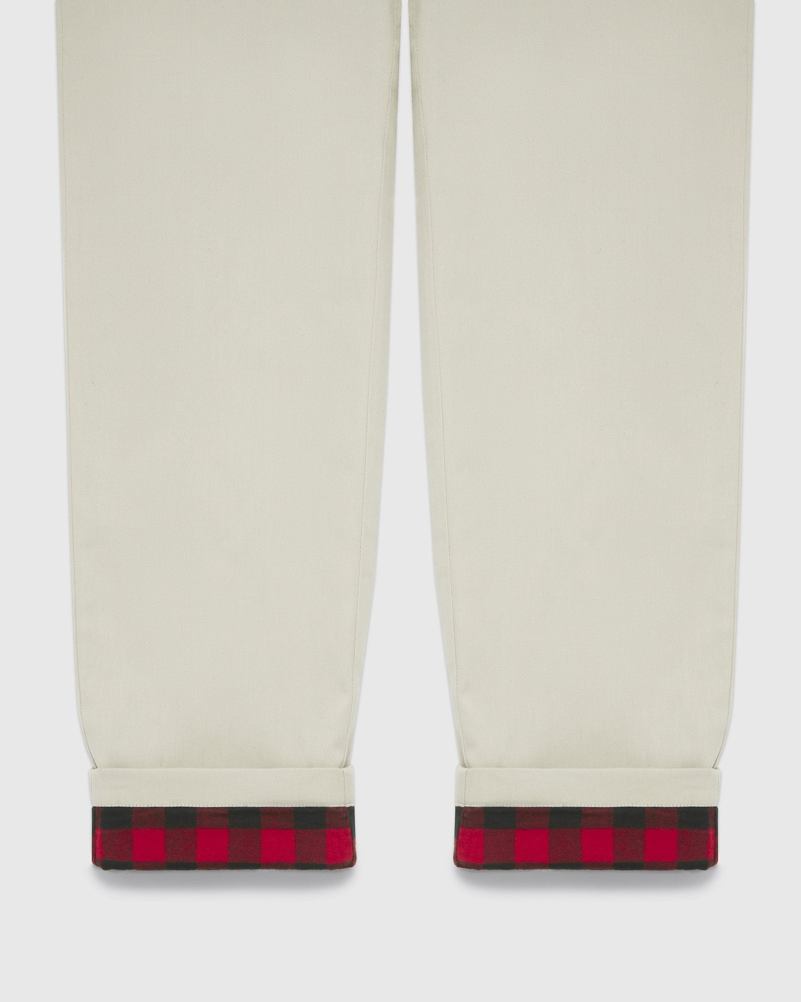 FLANNEL LINED CHINO PANT - SAND/RED IMAGE #4