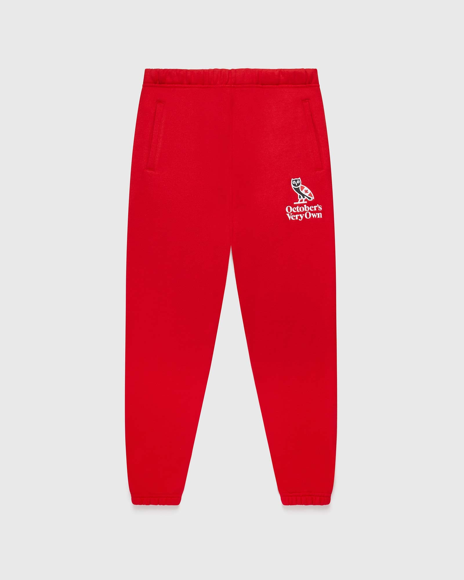 HERITAGE SWEATPANT - RED IMAGE #1