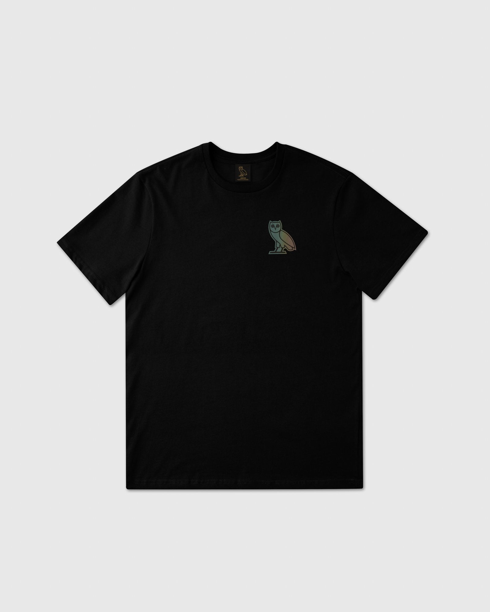 HOLOGRAM OWL T-SHIRT - BLACK IMAGE #1