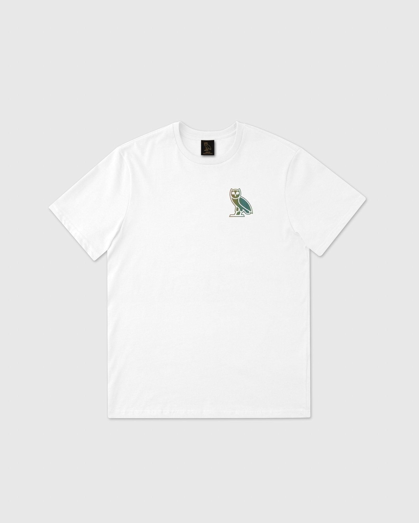 HOLOGRAM OWL T-SHIRT - WHITE IMAGE #1