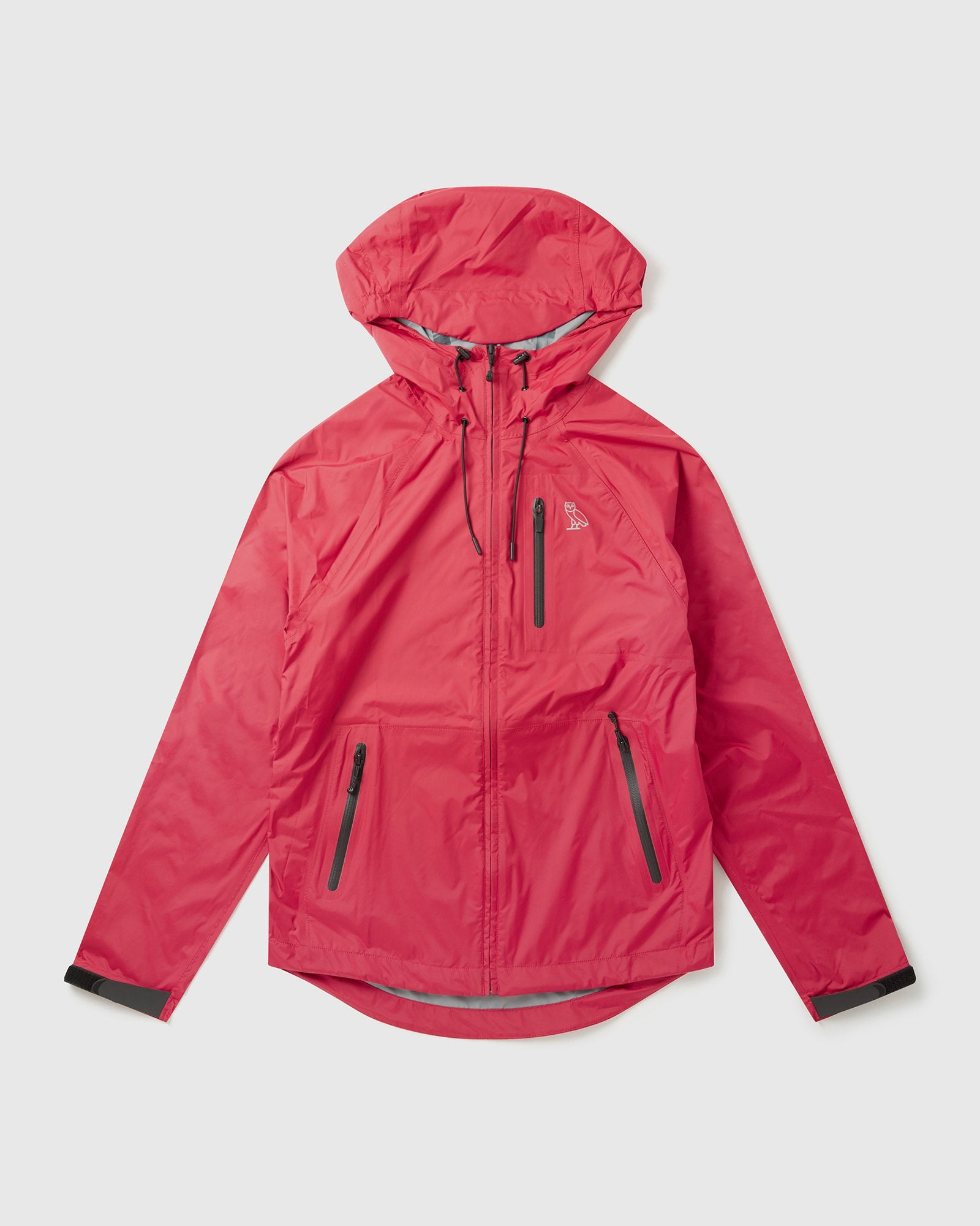 LIGHTWEIGHT RAIN SHELL - DARK RED IMAGE #1
