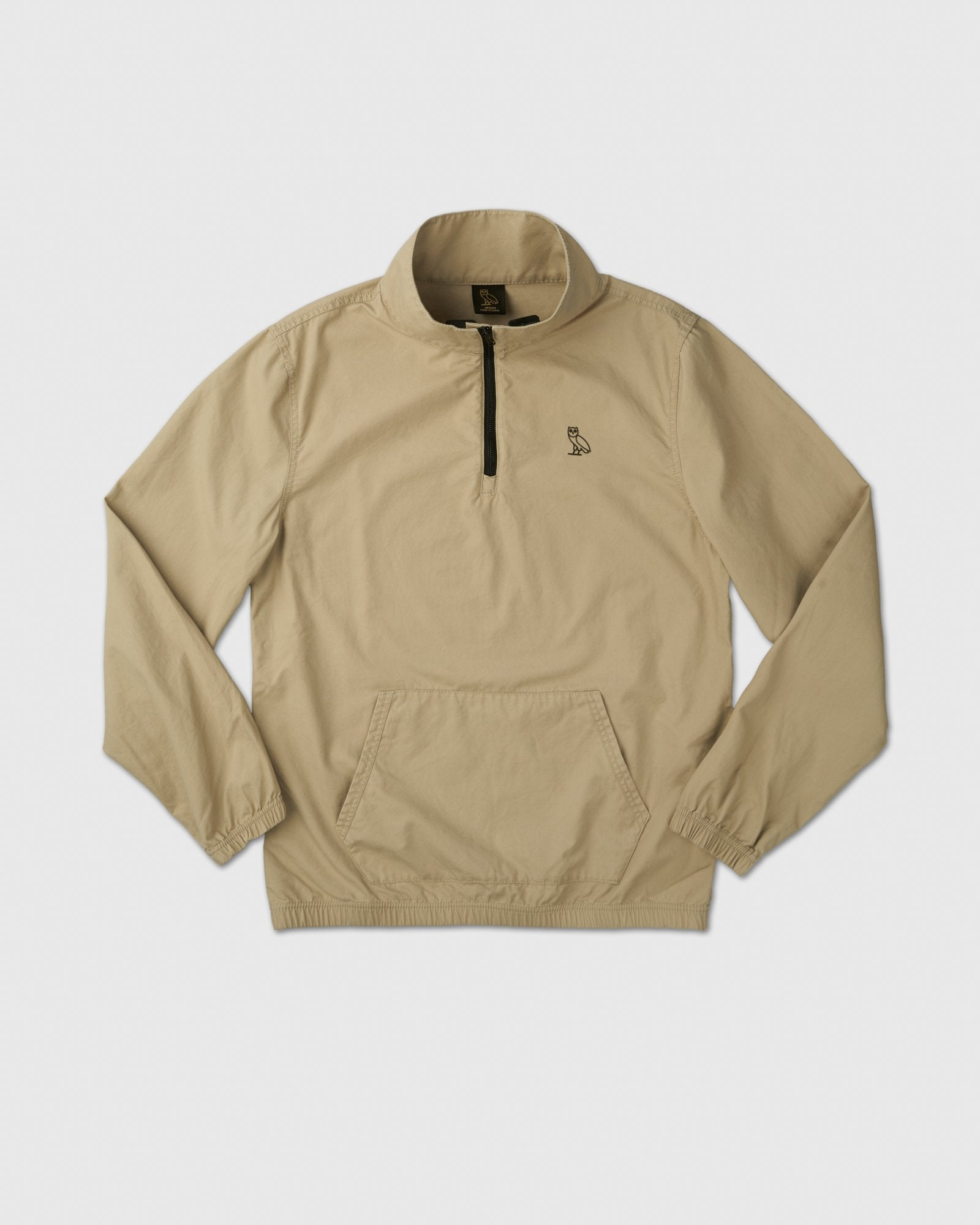 LIGHTWEIGHT WOVEN PULL OVER - SAND IMAGE #1