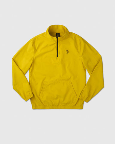 LIGHTWEIGHT WOVEN PULL OVER - YELLOW