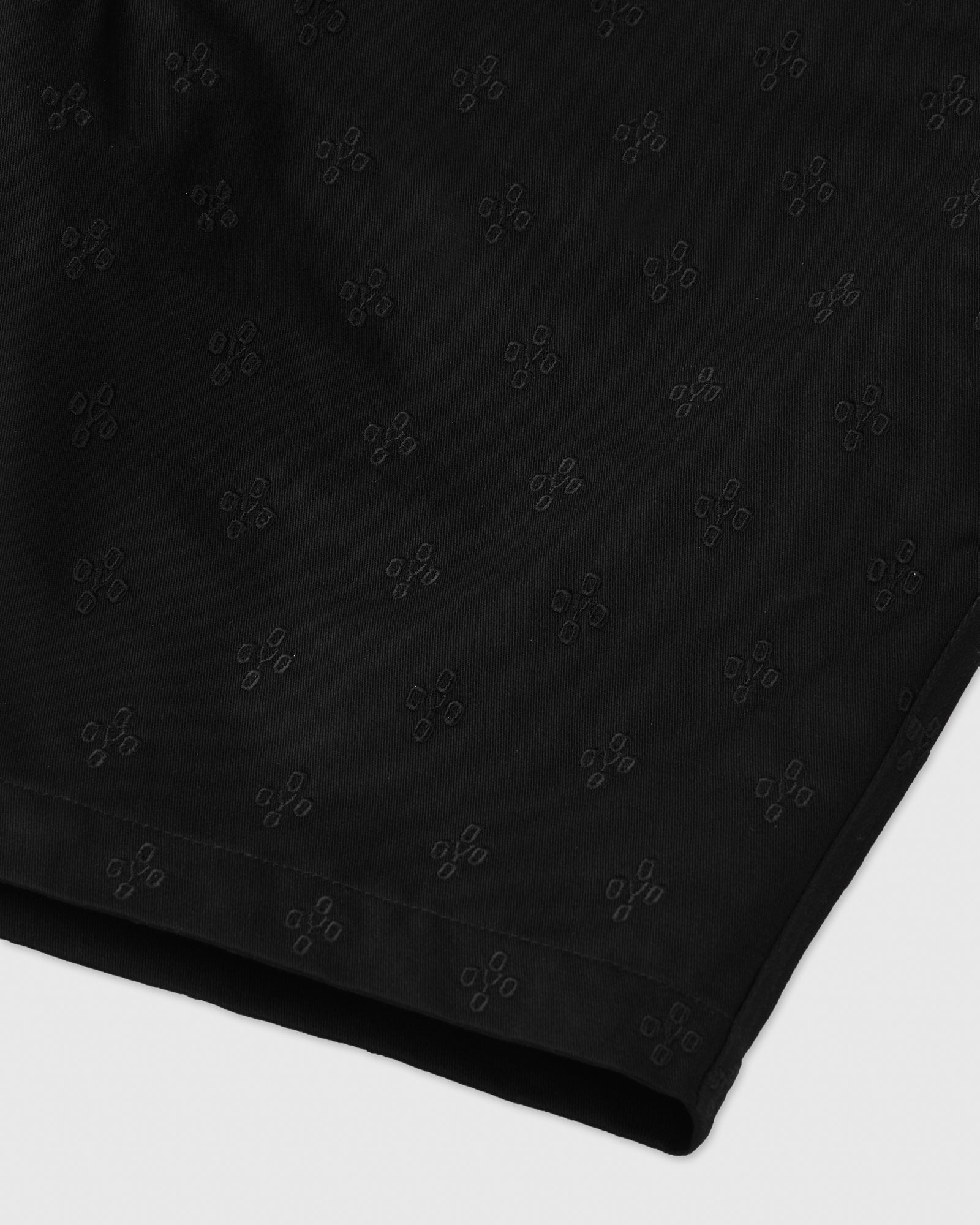 MONOGRAM EMBROIDERED SHORT - BLACK IMAGE #2