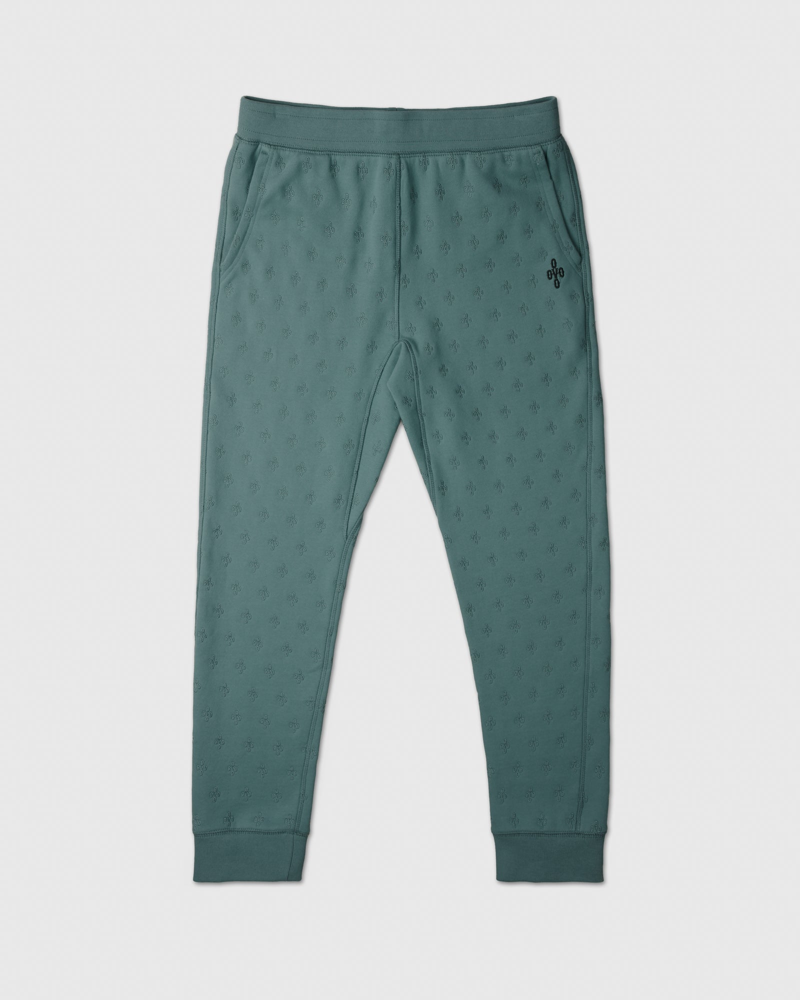 MONOGRAM EMBROIDERED SWEATPANT - STEELE BLUE IMAGE #1