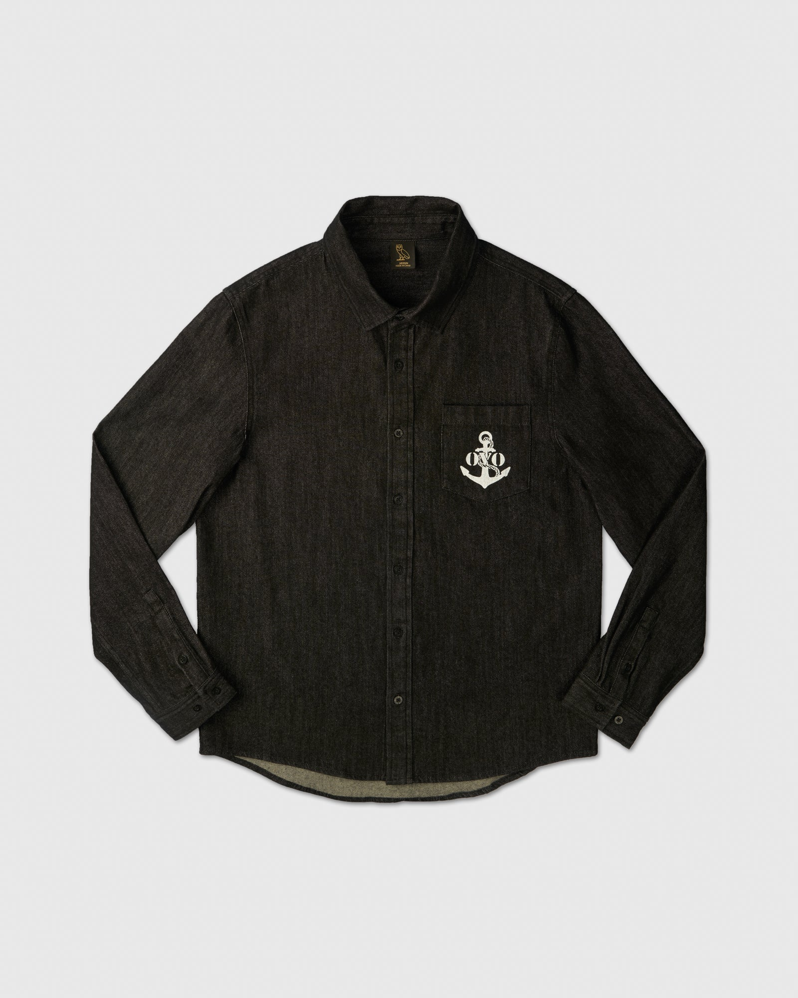 NAUTICAL DENIM SHIRT - BLACK IMAGE #1