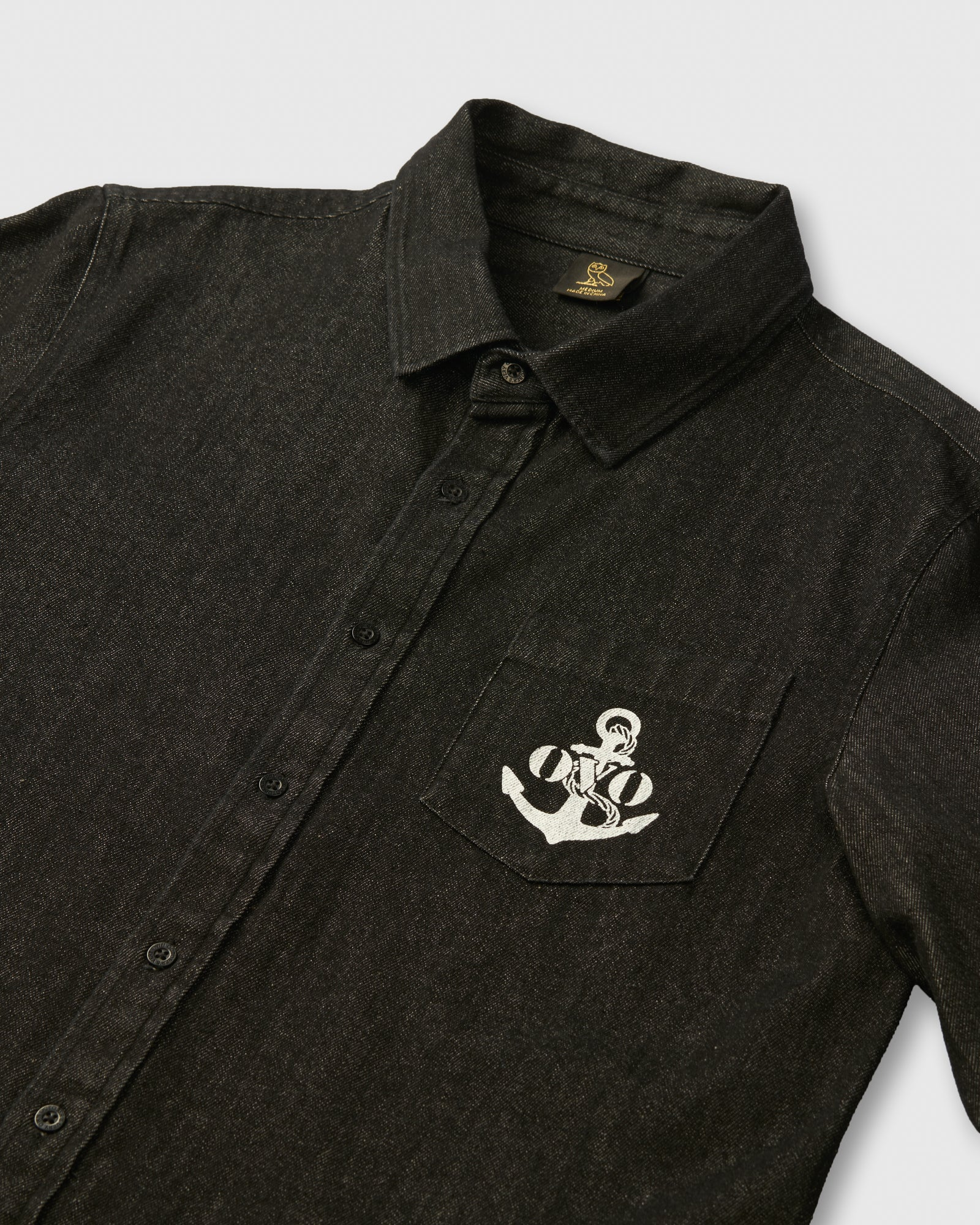 NAUTICAL DENIM SHIRT - BLACK IMAGE #3
