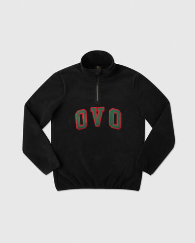 OVO ARCH POLAR FLEECE HALF ZIP - BLACK