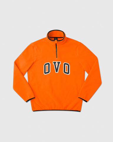 OVO ARCH POLAR FLEECE HALF ZIP - ORANGE