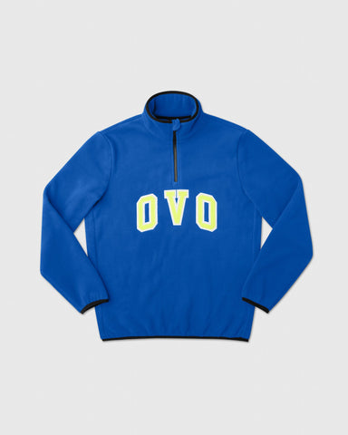 OVO ARCH POLAR FLEECE HALF ZIP - ROYAL BLUE