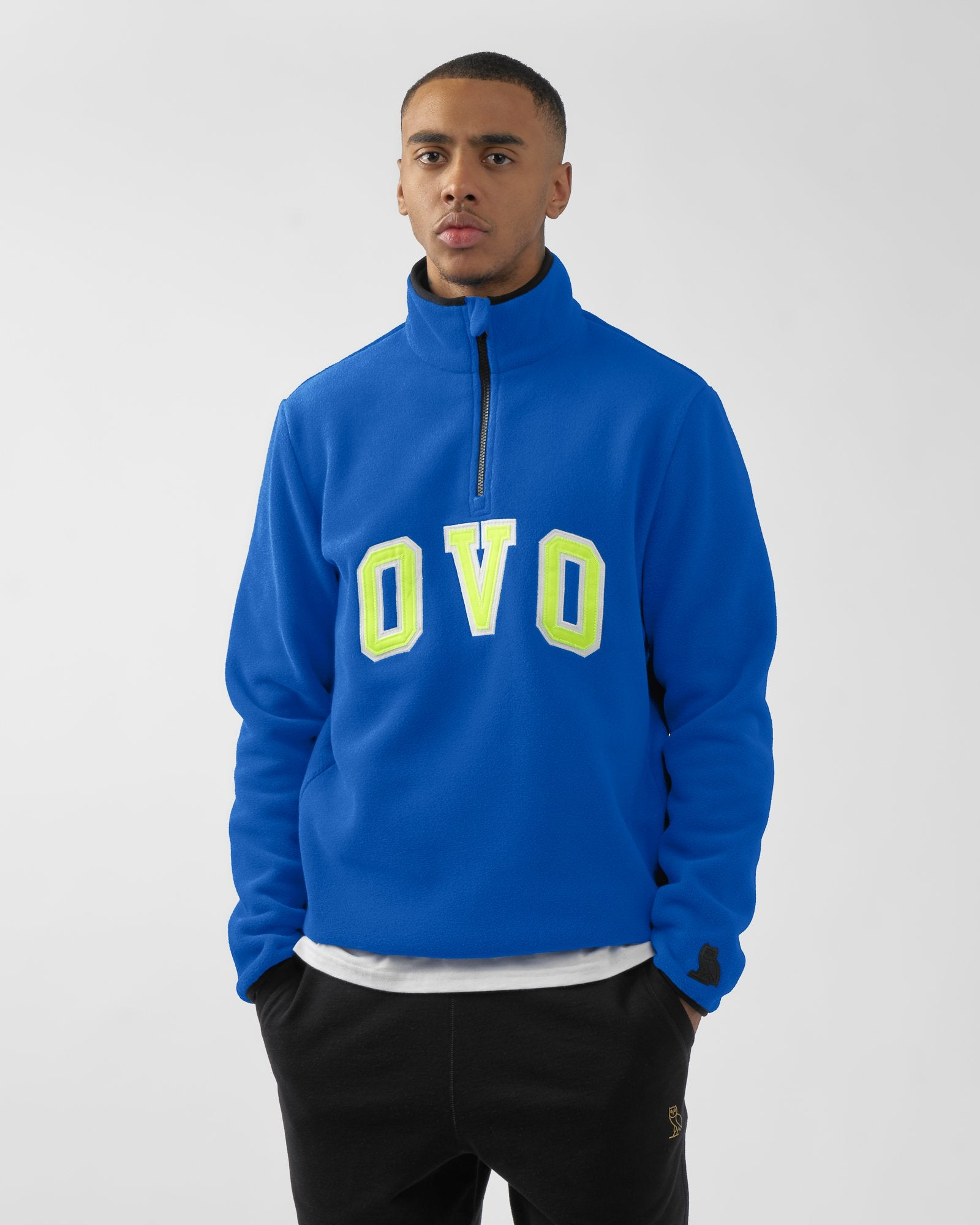 OVO ARCH POLAR FLEECE HALF ZIP - ROYAL BLUE IMAGE #2