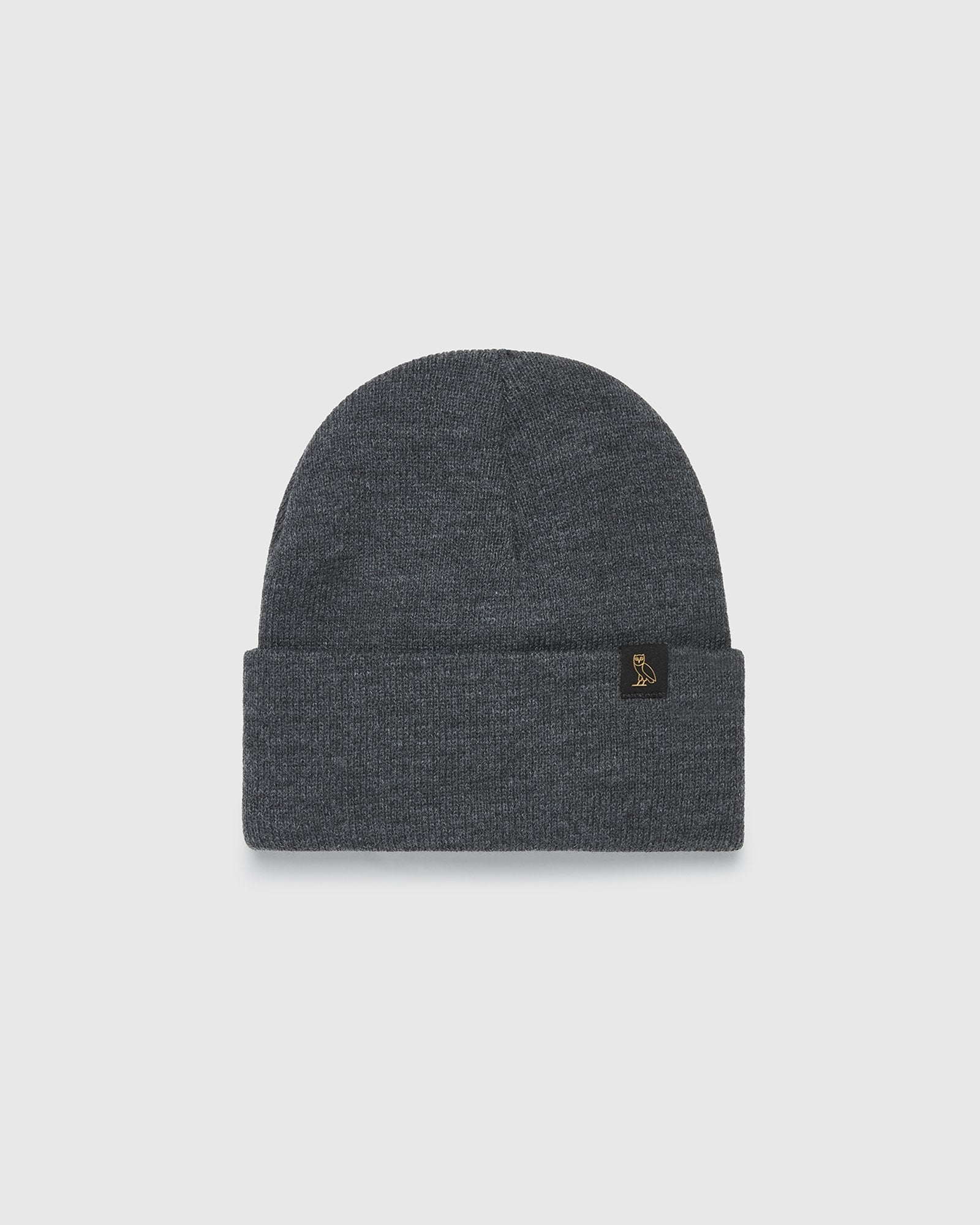 OVO BEANIE - DARK HEATHER GREY IMAGE #1