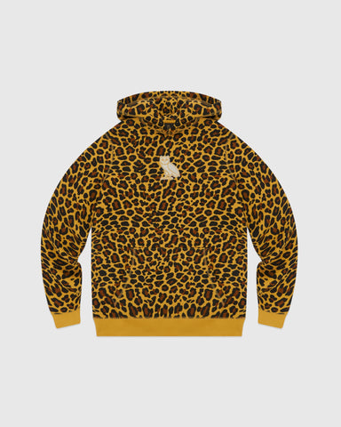 CLASSIC OWL HOODIE - LEOPARD