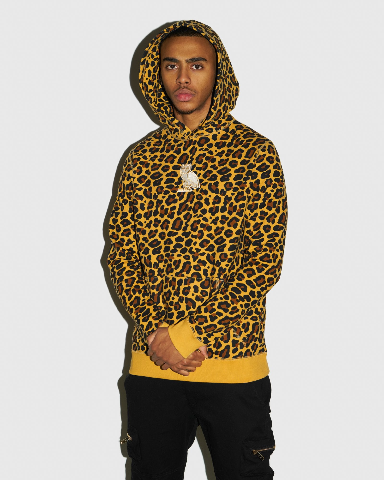 CLASSIC OWL HOODIE - LEOPARD IMAGE #2