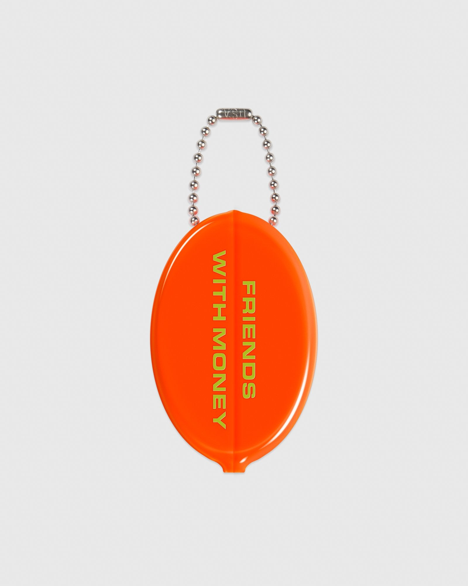 OCTOBER OUTLINE COIN POUCH - NEON ORANGE IMAGE #2