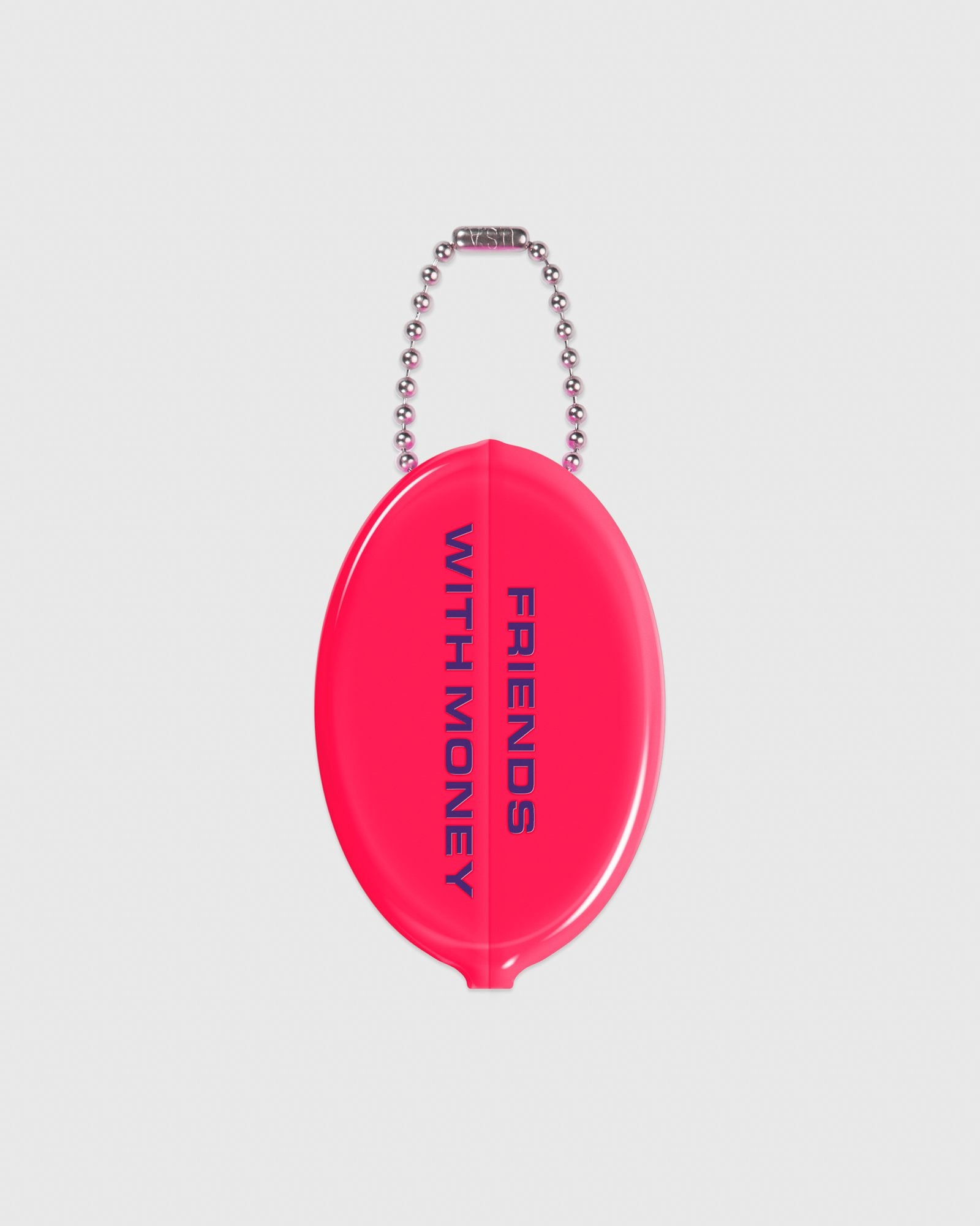 OCTOBER OUTLINE COIN POUCH - NEON PINK IMAGE #2
