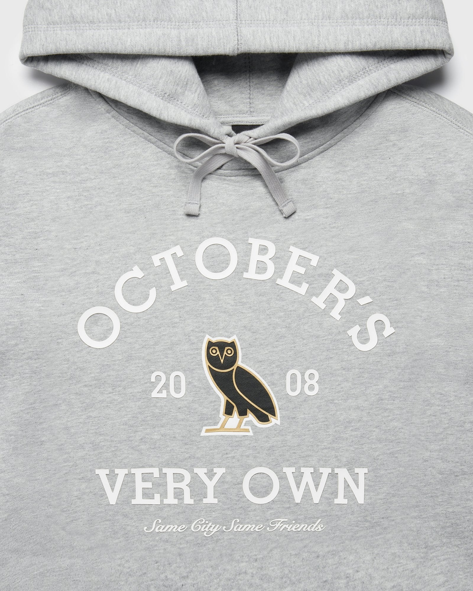 OVO COLLEGIATE HOODIE - HEATHER GREY IMAGE #3