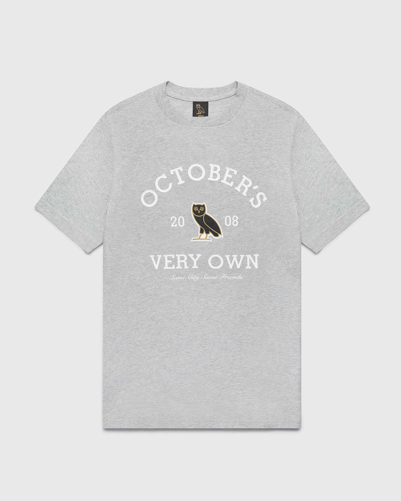 OVO COLLEGIATE T-SHIRT - HEATHER GREY IMAGE #1