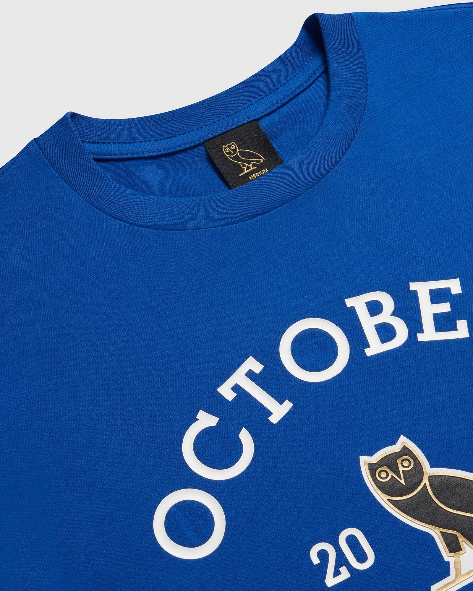 OVO COLLEGIATE T-SHIRT - ROYAL BLUE IMAGE #2