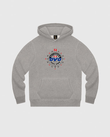 NAVIGATOR HOODIE - HEATHER GREY