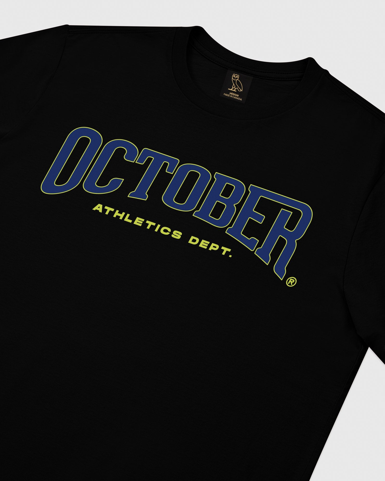 OCTOBER ATHLETICS LONGSLEEVE T-SHIRT - BLACK IMAGE #3